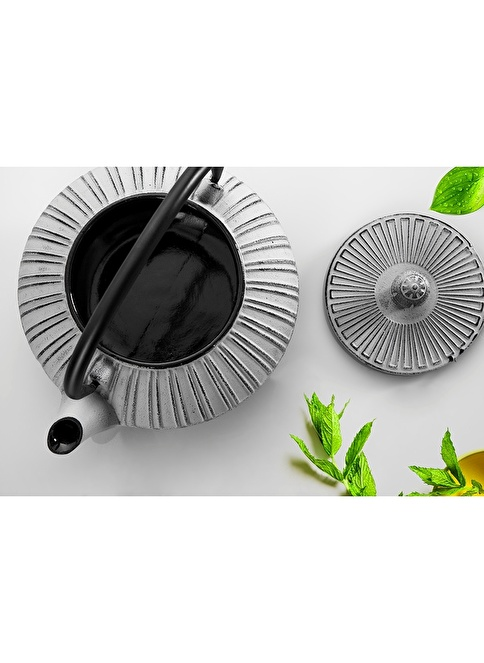 Bambum Bona 0,85L Döküm Çaydanlık Gümüş